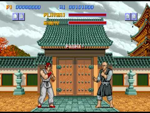 Street Fighter 1 Arcade Japan Stage 1 Ryu Vs Retsu Youtube