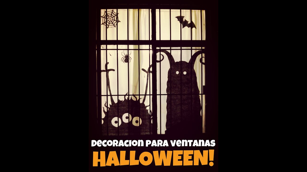 Como Hacer Decoraciones De Halloween Decoración Para Ventanas Diy Halloween Youtube