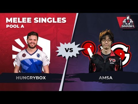 Hungrybox vs aMSa - Melee Singles: Pool B - Smash Summit 6