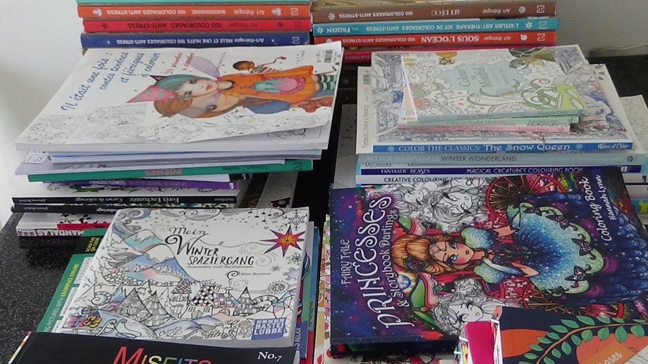 Ma collection de mes livres de coloriage pour adultes ( 24 ere partie)