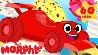 Ice cream! Morphle the race car races for Ice cream! Racing and other vehicle video for Kids!