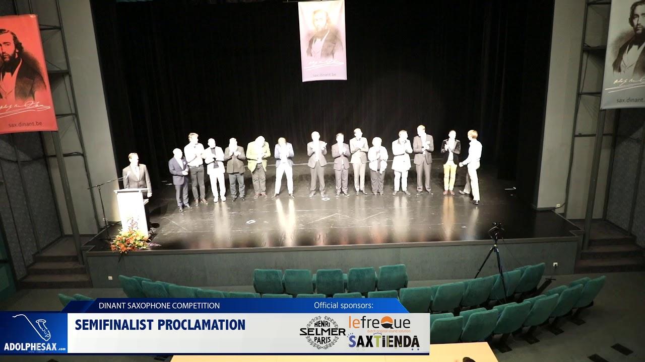 Dinant 2019   Semifinalist Proclamation (Dinant 2019)