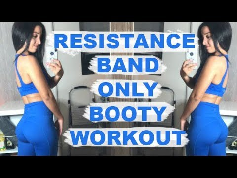 Resistance Band Only Booty Workout   At-Home Friendly!