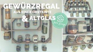 Gewürzregal aus Obstkisten & Weinkisten | Regal selber bauen | Holzregal |  Upcycling & DIY Idee