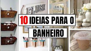 10 ideias simples e baratas para decorar o banheiro com reciclagem  | show de artesanato