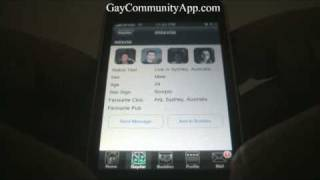 Gay community app demo for the iPhone