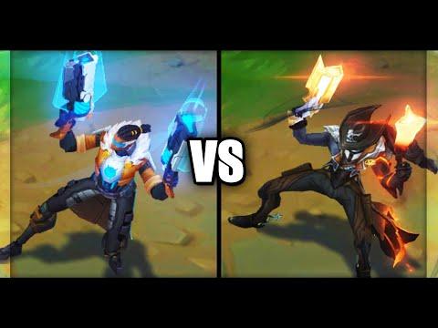 Pulsefire Lucian vs High Noon Lucian Legendary vs Epic Skins Comparison (League of Legends)