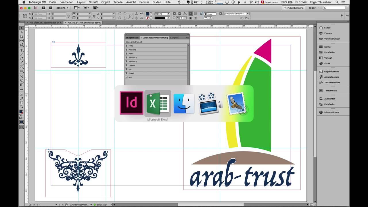 Visitenkarten Mit Indesign Und Excel Erstellen Teil 1