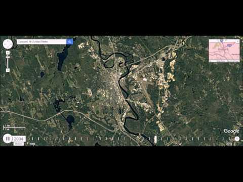 Concord, New Hampshire - Urban Sprawl Time Lapse