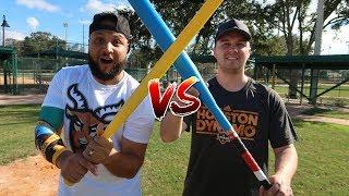 WIFFLE BALL BAT VS LOCO BAT! IRL Blitzball Challenge