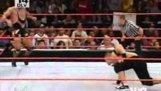 First Blood Match   John Cena vs  Kurt Angle Part 1
