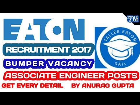 Eaton Freshers Recruitment 2017 – Various Associate Engineer Posts | Apply Online
