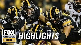 Minnesota vs Iowa | Highlights | FOX COLLEGE FOOTBALL
