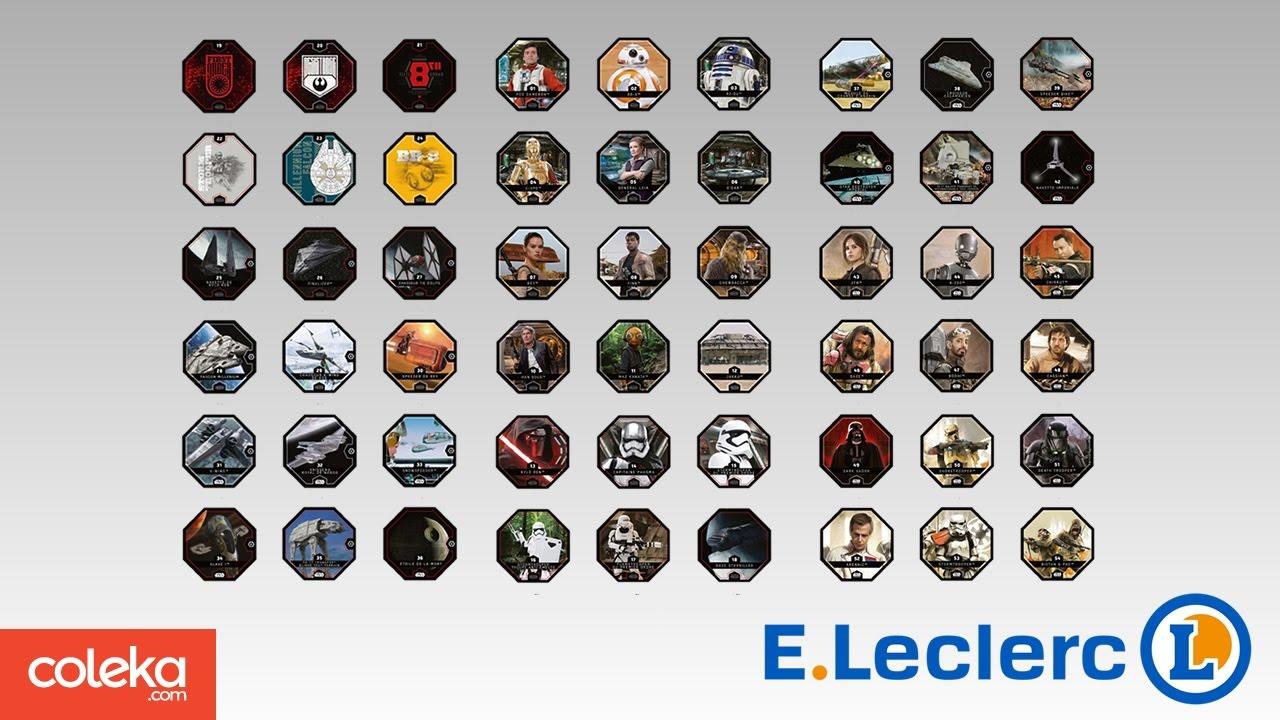 Carte Star Wars Leclerc.Cartes Leclerc Star Wars Rogue One Cosmic Shells 2016