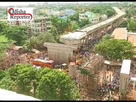 Under construction flyover collapses in Bhubaneswar 2