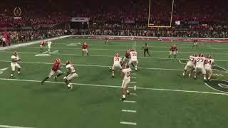 ALABAMA BEATS GEORGIA IN OVERTIME 2018 GAME WINNING TOUCHDOWN