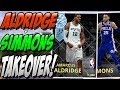 NBA 2K18 MYTEAM DIAMOND LAMARCUS ALDRIDGE   AMETHYST BEN SIMMONS GAMEPLAY  DIDN T SEE THAT COMING