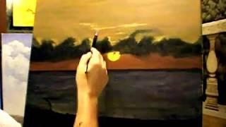 sunrise seascape painting video.avi