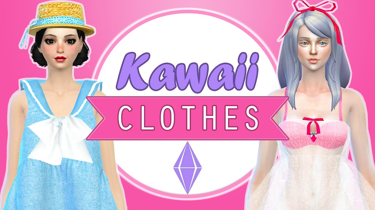The Sims 4 Cc Finds 5 Kawaii Clothes Youtube
