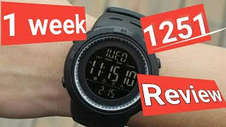 skmei 1251 full review after 1 week used | s-shock watch | |digital watch |