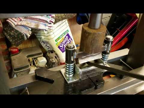 Small DIY press brake for bending rod.