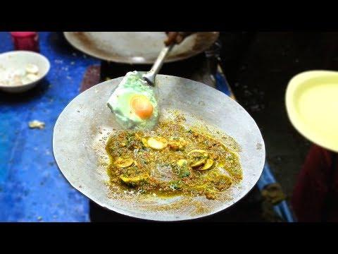 EGG Chinese Fry making - Bhandari Omelette Center , Surat , Gujarat | STREET FOOD INDIA