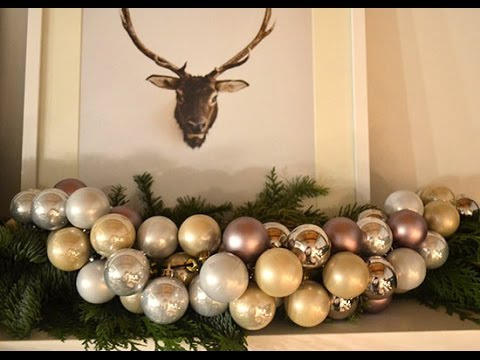Christmas Ball Garland.How To Make You Own Christmas Ornament Garland
