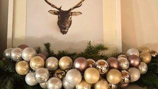 How to Make You Own Christmas Ornament Garland
