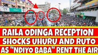"Raila Odinga Reception in Kisii Shocks Uhuru Kenyatta and William Ruto as Kisii Love ""Ndiyo Baba"""