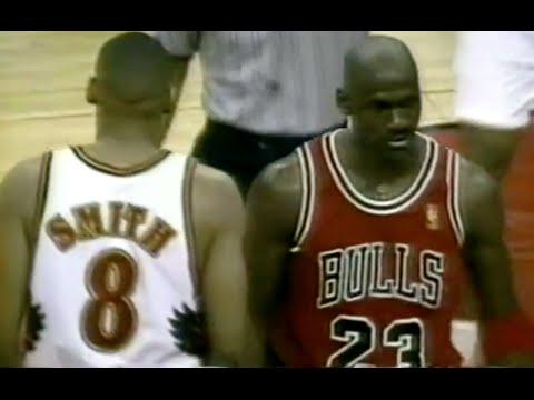 Michael Jordan locks down Steve Smith - 1997 NBA ECSF