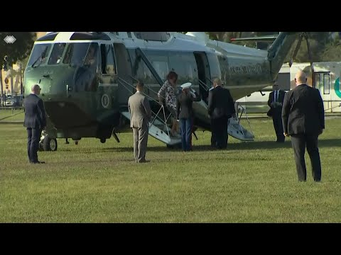 WEB EXTRA: President Trump Arrives In Miami Aboard Marine One