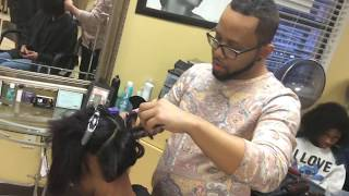 Silk press on relaxed hair!