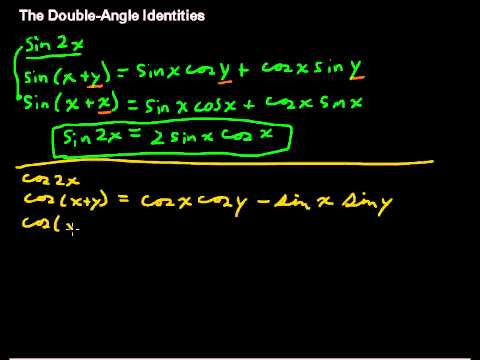 The Double Angle Identities - Precalculus Tips