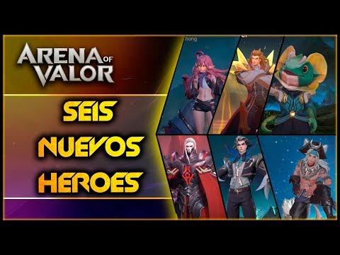 AoV 6 NUEVOS HEROES Increibles! | Arena Of Valor | DayMelto Gameplay Español