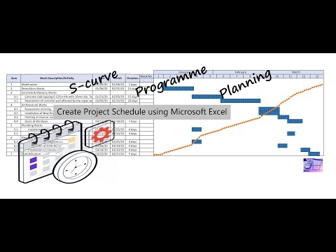 how-to-make-project-schedule-using-microsoft-excel-|-programme-|-s-curve-|-gantt-chart
