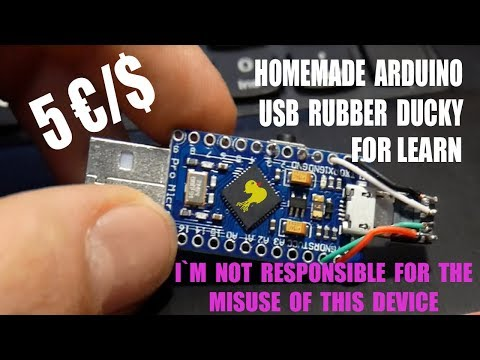 Homemade Diy Arduino Micro Usb Rubber Ducky-for Learning