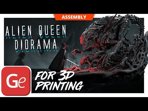 Alien Queen 3D Printing Figurine in Diorama   Assembly by Gambody
