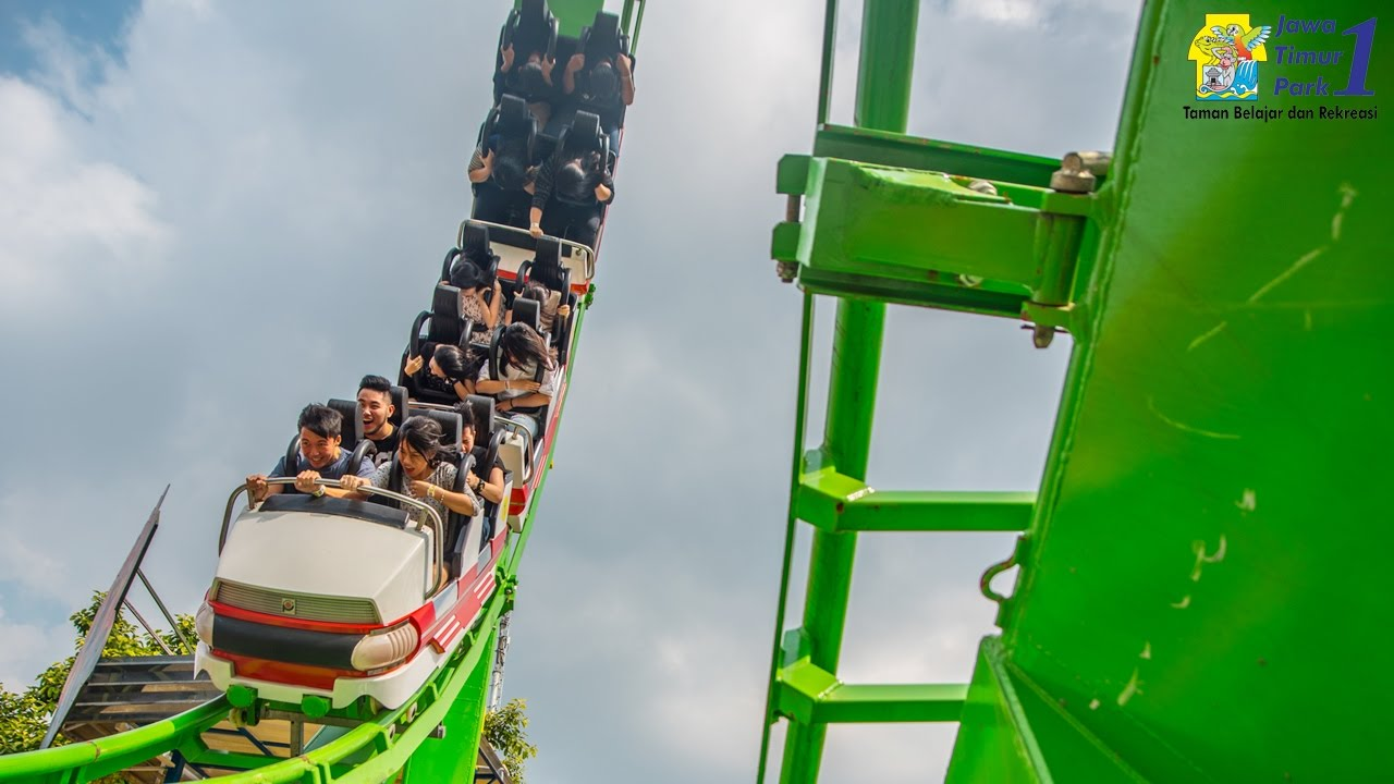Wahana Ekstrim Superloop Coaster Jatim Park 1 Youtube