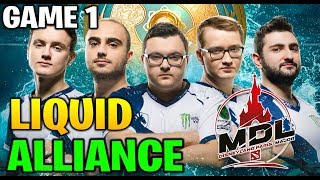 LIQUID vs ALLIANCE MDL Disneyland® Paris Major Europe Closed Qualifier Game 1