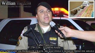 Comando 190 - PM apreende 550 pedras de crack, 300 gramas maconha e homem preso em Araxá