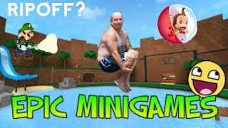 LUIGI'S MANSION IN ROBLOX? RIPOFF GAMES? ROBLOX MINIGAMES!
