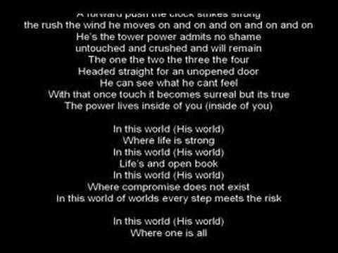 his world lyrics (Crush 40 Version)
