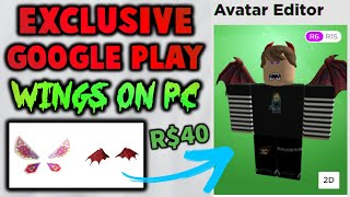 NEW! Get The Google Exclusive Wings On PC! (ROBLOX Egg Hunt Wings)
