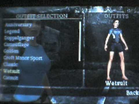 Tomb Raider Anniversary Psp Outfits Youtube