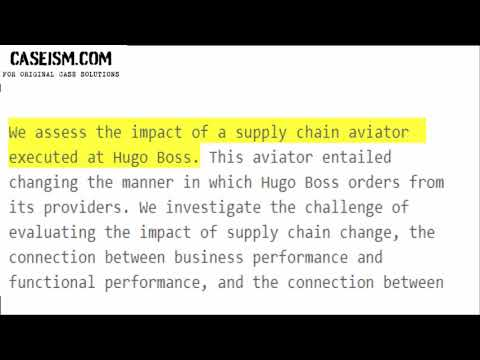 Supply Chain Optimization at Hugo Boss (B) – The M-Ratio Case Study Help - Caseism.com