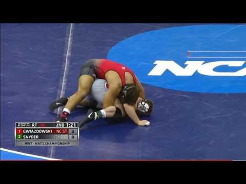 2016 NCAA Wrestling Finals 285 Kyle Snyder vs Nick Gwiazdowski