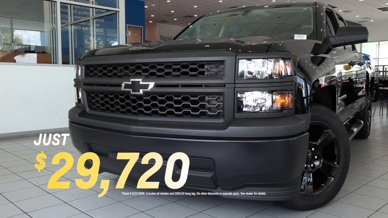 Save BIG on a 2016 Silverado Blackout Edition! - YouTube