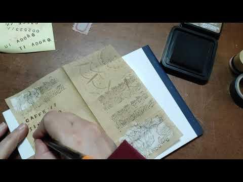 Video 4 pagine per il giornale creativo (time lapse)