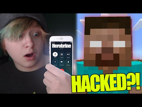 CALLING MINECRAFT HEROBRINE ANSWERED!! GONE WRONG HE HACKED INTO MY WORLD!!!