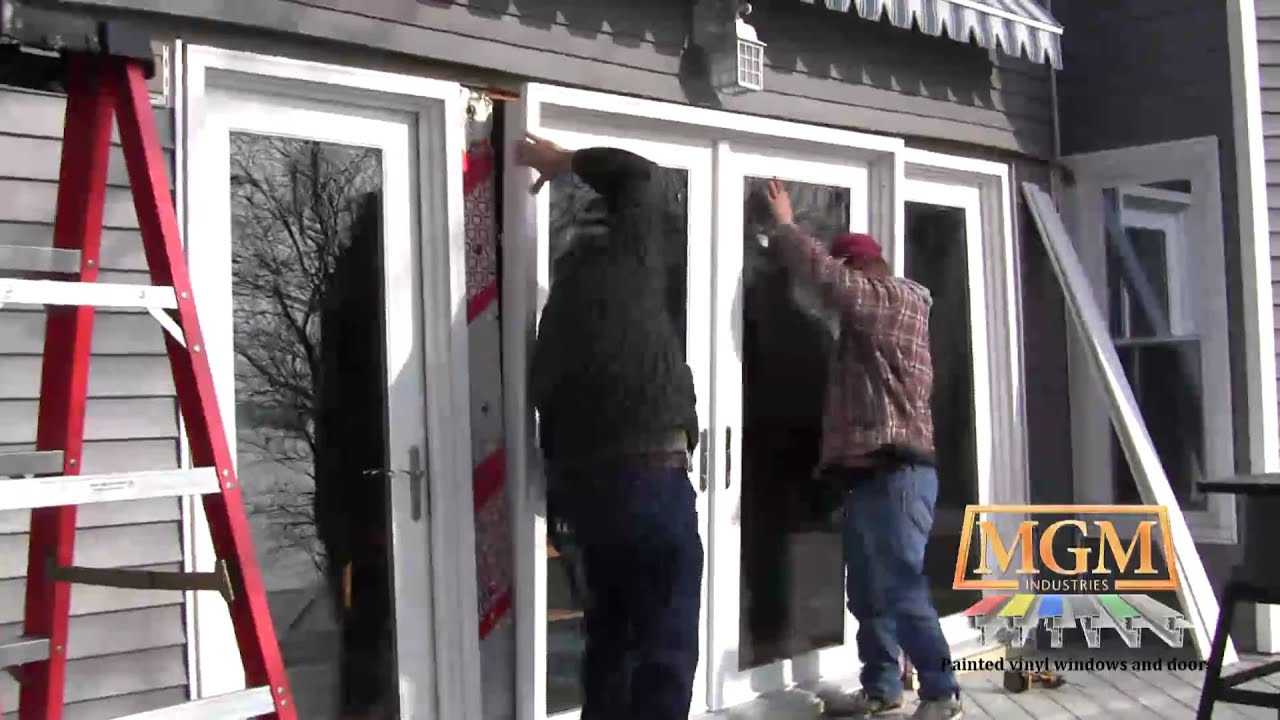 & Vinyl Swing Patio Door Installation - YouTube